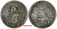 Mexico SECOND Silver 1872 Zs H 25 Centavos Mintage-260,000 Zacatecas KM# 406.9