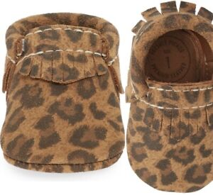 NEW Freshly Picked Leopard Print Fringe Suede Moccasins size 4 SOLD OUT