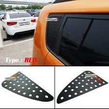 Window Glass C-Pillar Lettering Sport Plate Red for KIA 2008 - 2012 2013 Soul