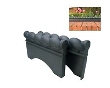10x Blue Brick Grey Rope Top Plastic Garden Border/Lawn Edging. UK Made. X8172