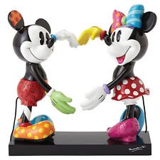 Disney by Britto Mickey & Minnie Mouse Large Heart Stone Resin Figurine