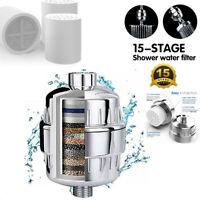1PcsShower Head Filter Water Softener Hard Water Chlorine Purifier Universal Fit