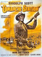 Plakat Kino Western Comanche Station Randolph Scott - 120 X 160 CM