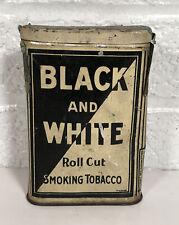 Vintage Black & White Vertical Pocket Tobacco Tin 1917 Tax Stamp