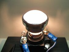 "Vintage Dialco ? Panel Mount Indicator Light Lens Cap 1"" White Smooth Push - On"