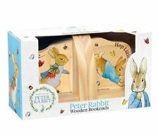 Officially Licensed Beatrix Potter Peter Rabbit Wooden Bookends