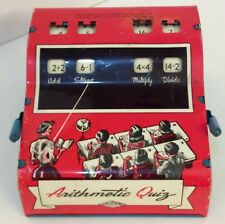 Vintage 1950s ARITHMETIC QUIZ Tin Educational Game Wolverine Supply & Mfg Co