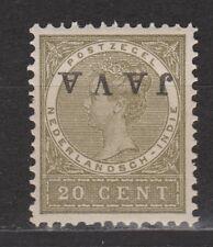 Nederlands Indie Netherlands Indies Indonesie nr 74f MLH JAVA KOPSTAAND 1908
