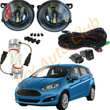 LED Fog Lights LED Driving Lamps Harness Swtich k Kit For Ford Fiesta 2008-2015