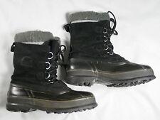 Sorel SUDBURY III LM1106-010 Mens 9 Insulated Winter Leather Felt Lined Boots