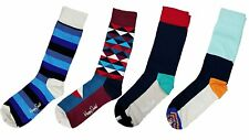 * Happy Socks Men's Combed Cotton Socks Gift Box, 4 Pairs, Multi-color, 10-13