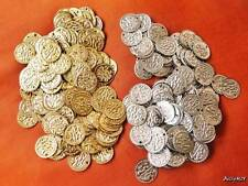 200 Belly Dance Hip Scarf SILVER & GOLD Bellydance Brass Coins