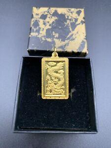 24k 9999 Chinese Gold Dragon Good Fortune Pendant 6.05 grams Not Scrap 99.99%