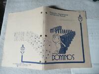 DOMINOS ATARI  ORIGINAL   owners manual ARCADE GAME