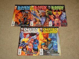 X-Men Black Sun The New X-Men #1-5 Lot Comic Books NM 9.4 Marvel 2000