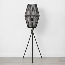 OpalHouse Rattan Diamond Tripod Floor Lamp -  Black