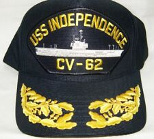 US NAVY CAP ORIGINAL USS INDEPENDENCE Made in USA Double Eggs One Size Fits All