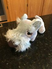 Artist Collection The Dog gray terrier RARE plush stuffed animal RATTLES 11""