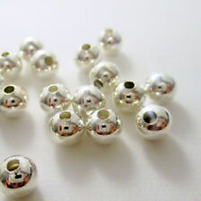 40 Silver Plated Round Spacer Beads, 5mm Round Beads, Beads, Supplies  G1552