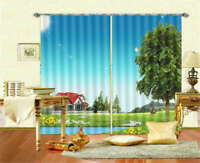 Bright Sunshine 3D Curtain Blockout Photo Printing Curtains Drape Fabric
