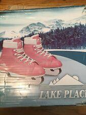 Girls Pink Lake Placid Size 1 Ice Skates.