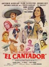 MI CABALLO EL CANTADOR Movie POSTER 11x17 Spanish Antonio Aguilar Flor Silvestre