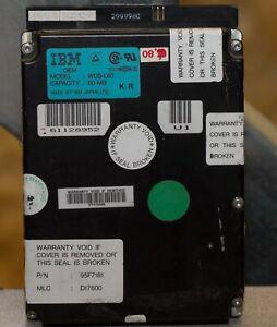 Vintage Apple ROM IBM WDS-L80 80MB SCSI Hard Drive tested working 8952
