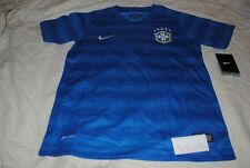 BOYS NIKE SOCCER JERSEY BRAZIL WORLD CUP SIZE LARGE DRI FIT