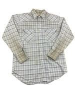 Big Mac Chest Pockets Plaid, Pearl Snap Western Button Up Shirt, Size Medium