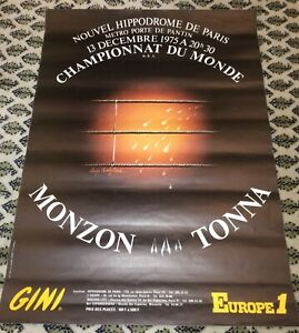 CARLOS MONZON V GRATIEN TONNA-WORLD MWC-1975-BOXING POSTER-RARE FROM FRANCE!