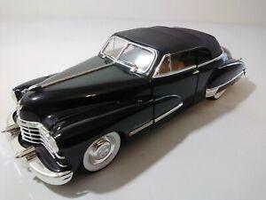 1/18 ANSON 1947 Cadillac Top up Black on Black White Wall tires Tan Interior