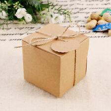 100 x Geschenkbox Geschenkkarton Gastgeschenk Etui Hochzeit Geschenk mit Tags