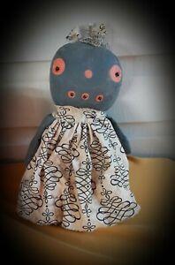 Primitive Rag Stuffed Pumpkin  Doll #183 ~Mountain Holler Prims~