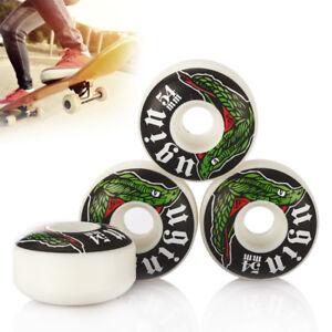 4pcs Premium PU Skateboard Wheels 54mm Road Skate Boarding White Wheel 54 x 32mm