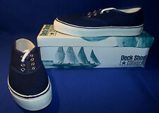 Vtg 1970s Converse Nautilus Deck Shoes Boys Size 1 Navy Blue New Old Stock USA
