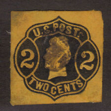 Scott# U52 2 Cent US Postage Cut Square