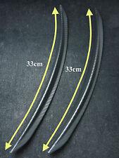 New 2pcs Universal Car Black Color Faux Carbon Fiber Fender Lip Aero Mud Guard