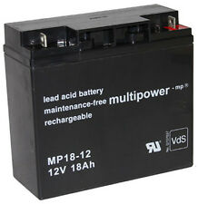 1 x Multipower Blei Akku MP18-12 12V / 18Ah / VdS | FG21803 | Powerfit S312/18G5