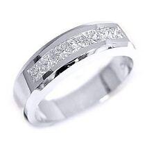 3/4 Ct Men's Diamond Ring Princess Cut Channel Set Diamond 7 Stones MAde in USA