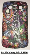 "Ed Hardy ""Ed Hardy Name""  Phone Case -Blackberry Bold 2 9700 + Screen protector"