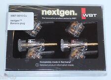 WBT 0610 Cu nextgen 4 Stück. Bananenstecker 45 Grad NEU in OVP
