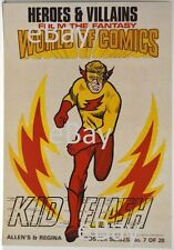 DC Comics HEROES & VILLAINS New Zealand Gum Card POSTER - KID FLASH