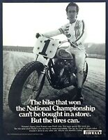 1971 Gene Romero National Motorcycle Racing Champion photo Pirelli Tire print ad