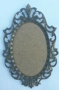 Vintage Italian Oval Photo Frame