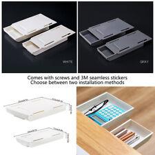 Self Adhesive Pencil Tray Desk Table Storage Drawer Organizer Box Under Desk