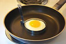 "FOX RUN- SET OF 2 - Round Egg Pancake Rings 3"" Chromed Steel Collapsible Handle"