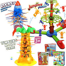 TUMBLING MONKEY AND SPACE SHIP DROP ROCKET GAME PULL OUT STICKS FAMILY FUN GAME