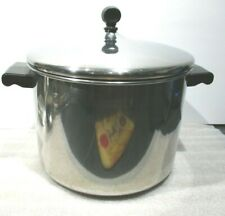 Farberware Stock Pot 8 Qt Quart Durable Stainless Steel w/Lid