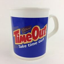 British Cadbury Chocolate Vintage Staffordshire Coffee Mug CADBURY'S TIME OUT
