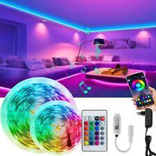 LED Stripe 20m Sync Musik Bluetooth 5050 RGB Lichterkette Band mit Fernbedienung